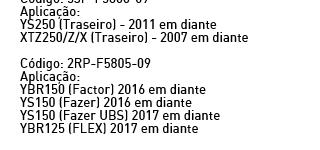 Yamaha_brazil brakepad 2RP-F5805-09