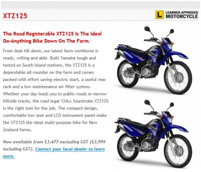 NZ XTZ125